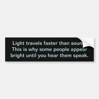 Light speed bumper sticker