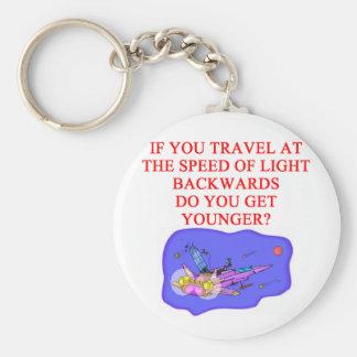 light speed phyisics joke basic round button keychain