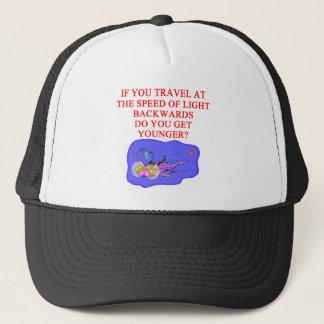 light speed phyisics joke trucker hat