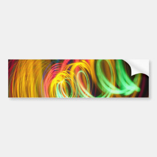 LIGHT SPIRALS NEON COLORS BLACK PARTY DISCO ABSTRA BUMPER STICKERS