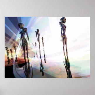 Light splitters - surreal art poster