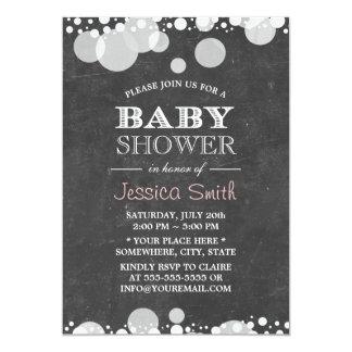 Light Spots Chalkboard Baby Shower Card