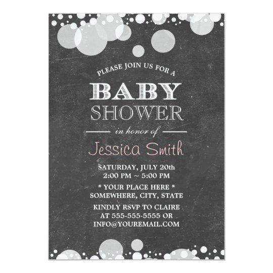 Light Spots Chalkboard Baby Shower Invitation