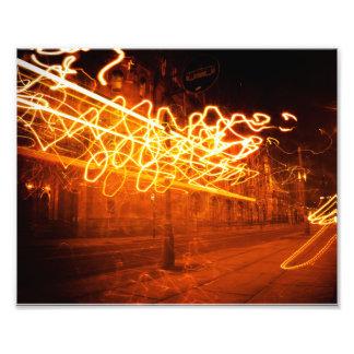 Light Squiggles Photographic Print