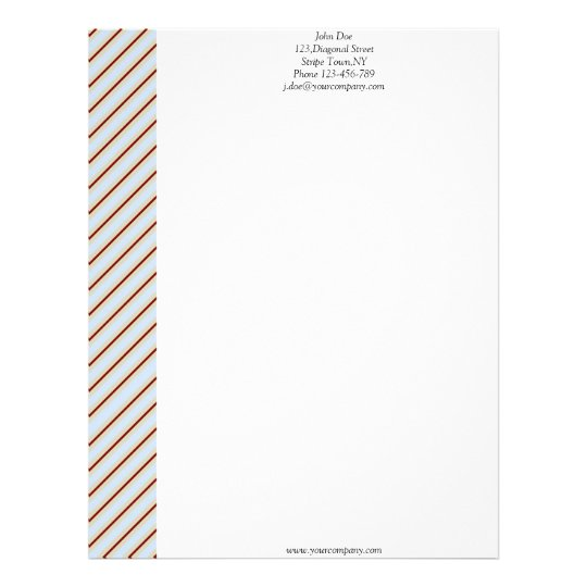 Light Steel Blue Creme Maroon Letterhead Template
