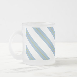 Light Steel Blue,Yellow and White Frosted Mug