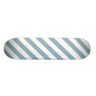Light Steel Blue,Yellow and White Stripes Deck