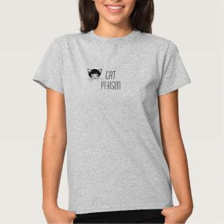 Light steel colour Cat Person t-shirt
