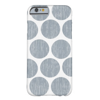 Light Steel Gray Distressed Polka Dot iPhone 6 Barely There iPhone 6 Case