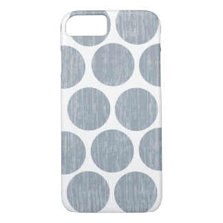 Light Steel Gray Distressed Polka Dot iPhone 7 iPhone 7 Case