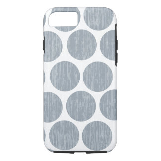 Light Steel Gray Distressed Polka Dot iPhone 7 iPhone 8/7 Case
