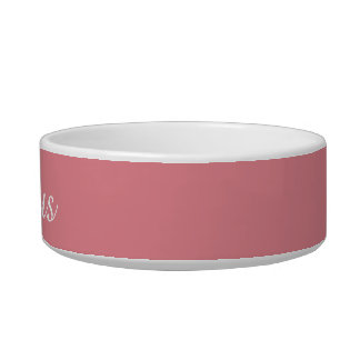 Light Strawberry Pink Customizable Bowl