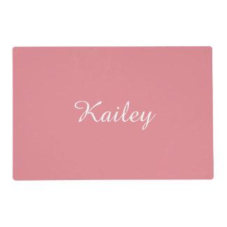 Light Strawberry Pink Customizable Placemat