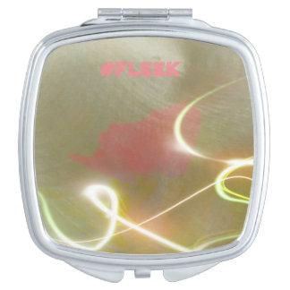 "Light Streaks ""#Fleek"" Slang Modern Designs Makeup Mirror"