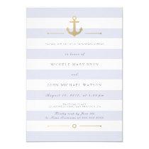 Light Striped Nautical Rehearsal Dinner Invite