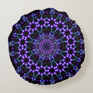 Light Structures Mandala Round Pillow