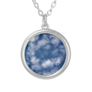 Light Summer Clouds Silver Plated Necklace