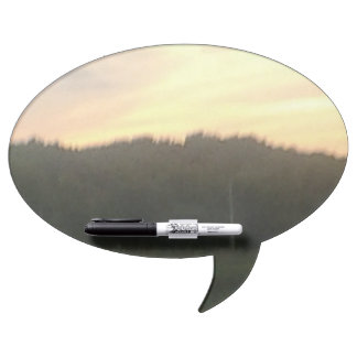 Light sunset talk bubble dry erase board