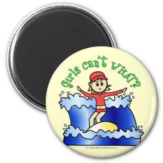Light Surfer Girl 2 Inch Round Magnet