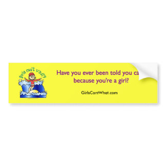 Light Surfer Girl Car Bumper Sticker