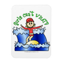 Light Surfer Girl on Surfboard Flexible Magnets