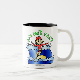 Light Surfer Girl Two-Tone Coffee Mug