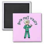 Light Surgeon Girl 2 Inch Square Magnet