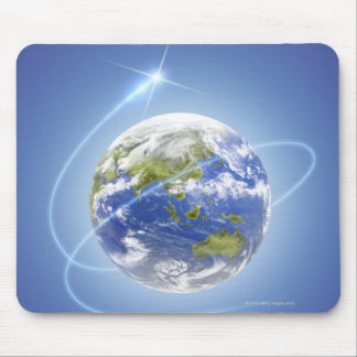 Light Surrounding Earth Mouse Pad