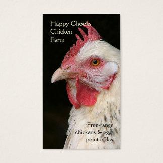Light Sussex hen portrait photo Business Card