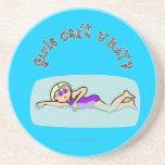 Light Swimmer Girl Swimming Coaster