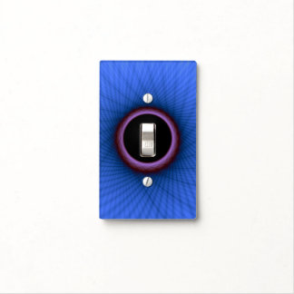 Light Switch Cover  Blue and Purple Window Frame
