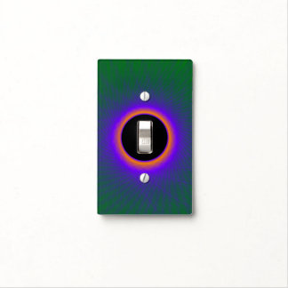Light Switch Cover  Blue Green and Copper Window