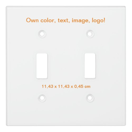 Light Switch Cover Double Toggle White - own Color