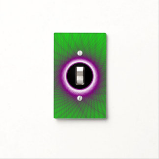Light Switch Cover  Green and Violet Woven Window