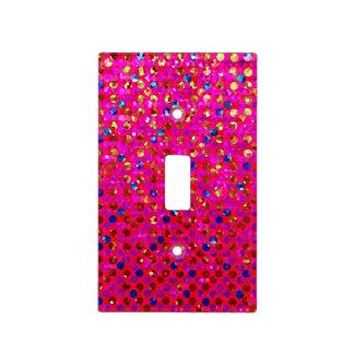 Light Switch Cover Polka Dot Sparkley Jewels