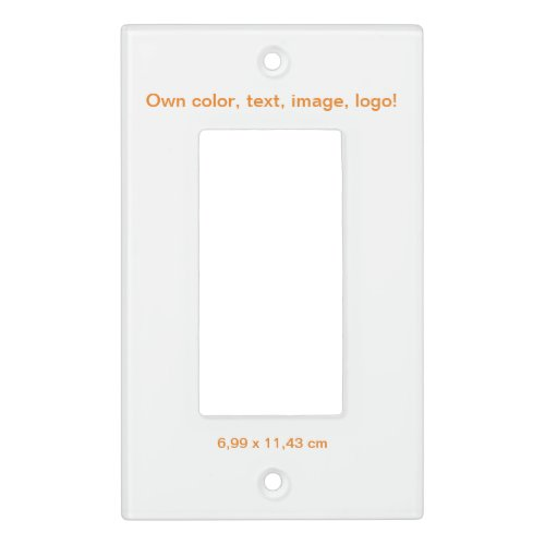 Light Switch Cover Single Rocker White - own Color