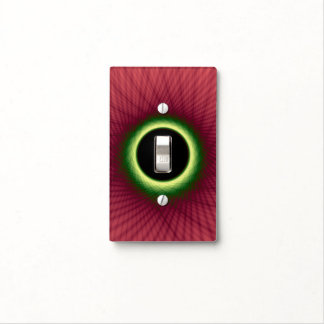 Light Switch Cover  Woven Pink and Green Window