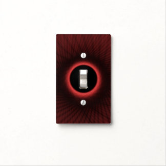 Light Switch Cover  Woven Red Window