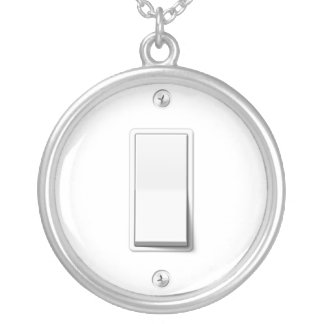 Light Switch Silver Plated Necklace