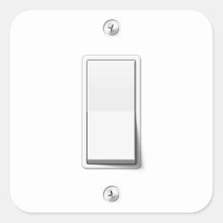 Light Switch Square Sticker