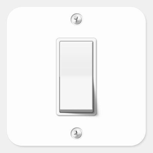 Light switch square sticker zazzle