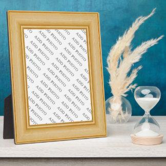 Light Tan Basic Wood Frame Add Photo Plaque