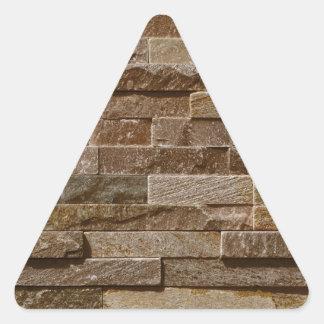 Light tan / brown bricks pattern triangle sticker