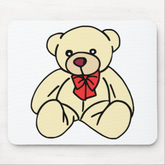 Light Tan Colored Cute Teddy Bear Mouse Pad
