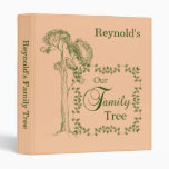 Light Tan & Green Our Family Tree Binder
