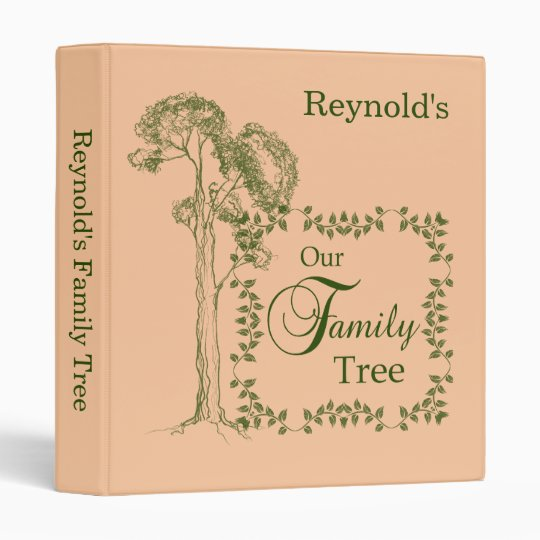 Light Tan Amp Green Our Family Tree Binder Zazzle