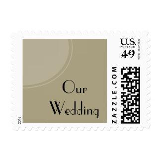 Light Tan modern circle wedding Postage Stamp
