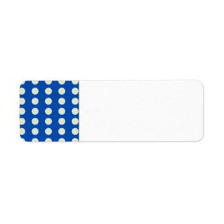 Light Tan Polka Dots on Navy Blue Pattern Gifts Return Address Label