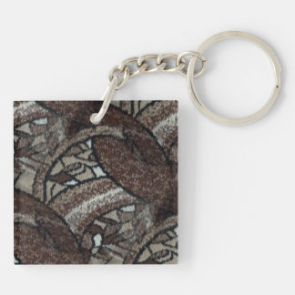 light tan, sand and brown abstract keychain