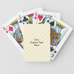 Light Tan Stripes with Black Text. Deck Of Cards